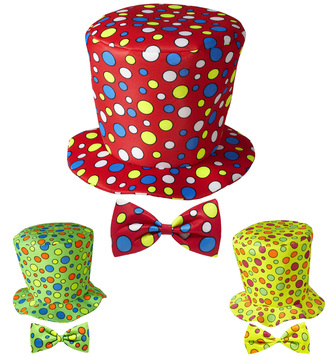 ACCESSORIES/HATS & HEADBANDS/CLOWN TOP HAT & BOW TIE