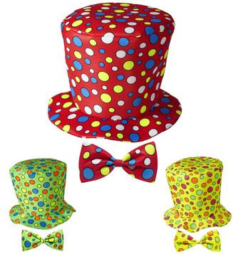 ACCESSORIES/HATS & HEADBANDS/CLOWN TOP HAT & BOW TIE