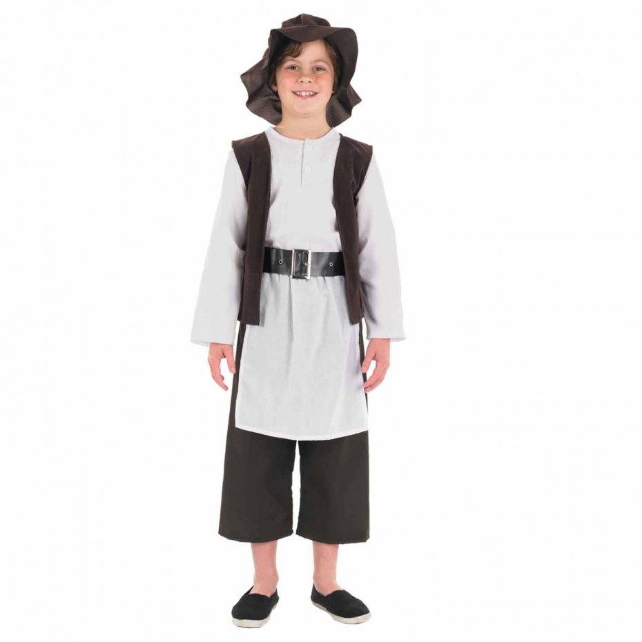 BOYS/HISTORY/KIDS DELUXE BROWN TUDOR BOY COSTUME