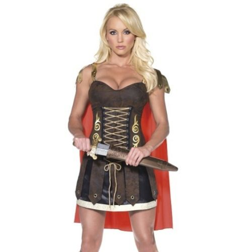 WOMAN/HISTORY/Fever Gladiator Costume, Brown