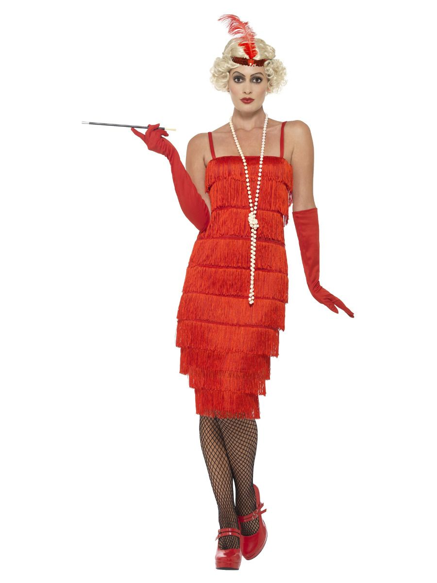 WOMAN/DECADES/1920'S/FLAPPER COSTUME RED