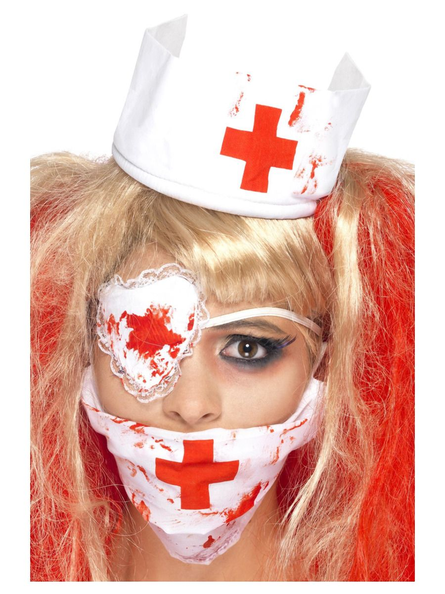 WOMAN/HALLOWEEN/Bloody Nurse Kit, White