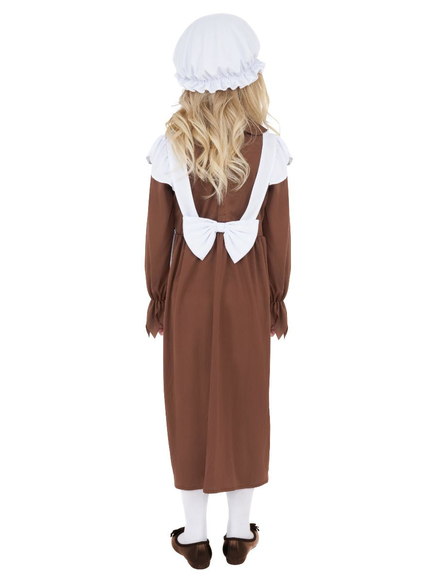GIRLS/HISTORY/Poor Victorian Costume, Brown & White