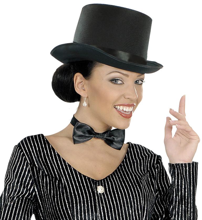 ACCESSORIES/HATS & HEADBANDS/TOP HAT BLACK SATIN