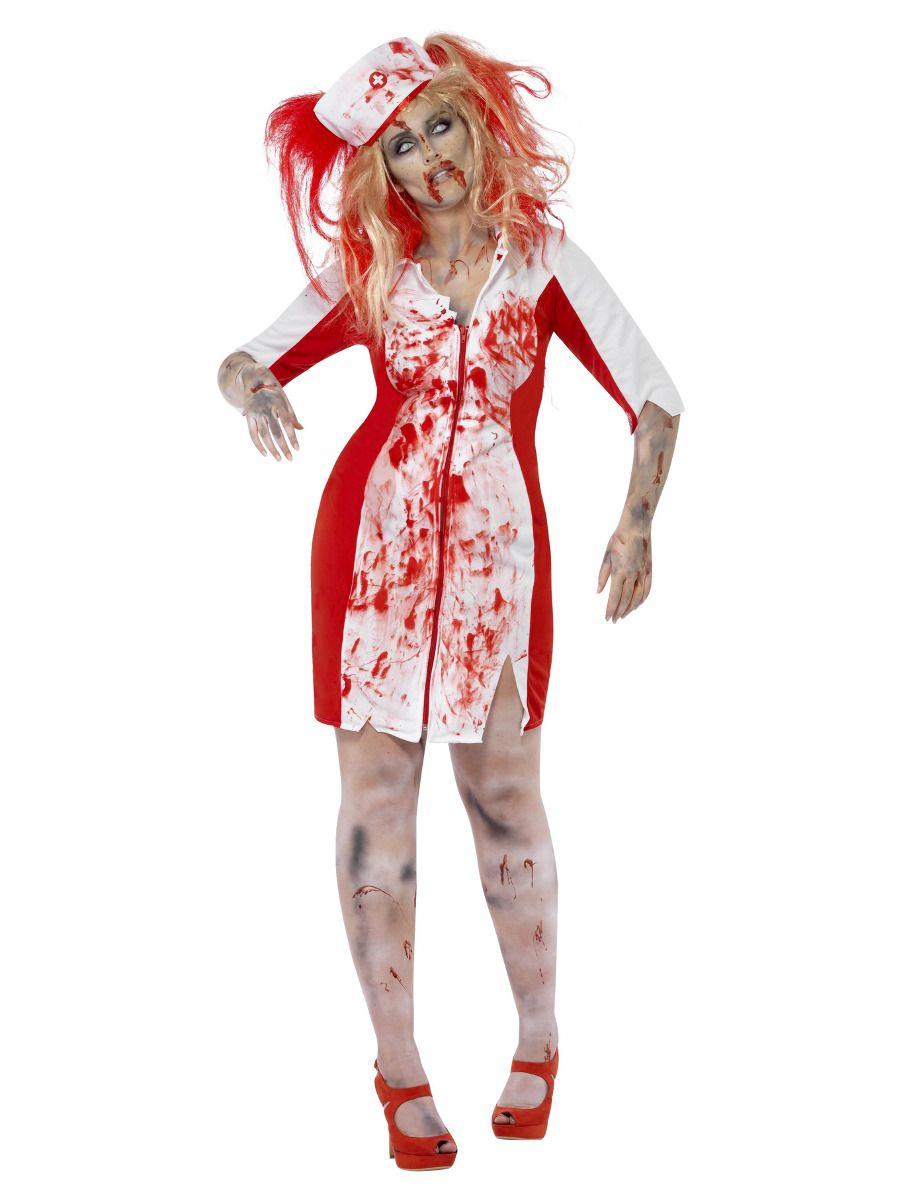 WOMAN/HALLOWEEN/Curves Zombie Nurse Costume, White