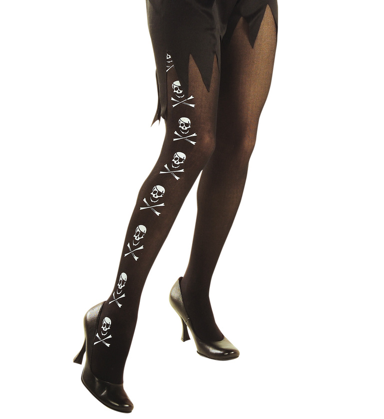 ACCESSORIES/TIGHTS & STOCKINGS/ PANTYHOSE - PIRATE SKULL BONES