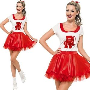 WOMAN/TV & FILM/Sandy Cheerleader Costume, Red & White