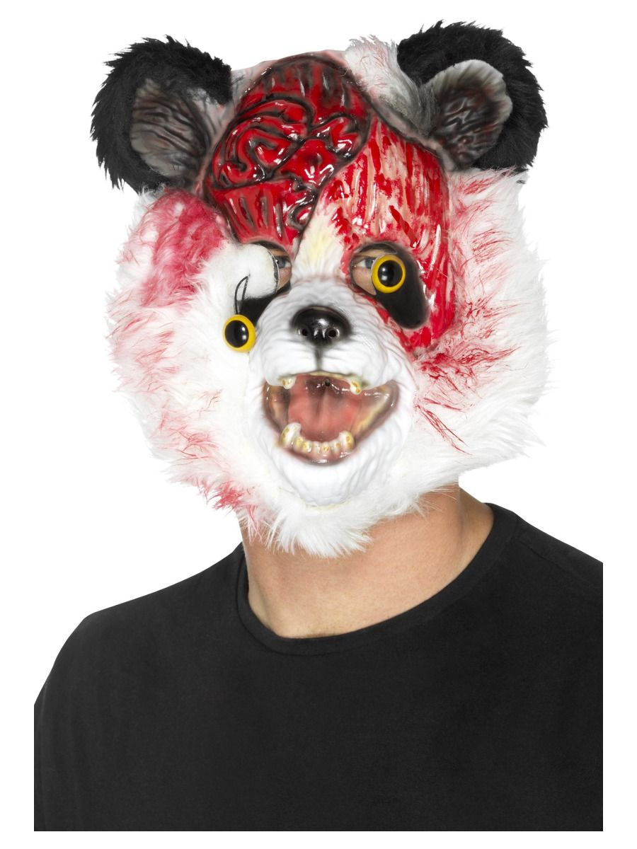 ACCESSORIES/HALLOWEEN/PROPS/ZOMBIE PANDA MASK