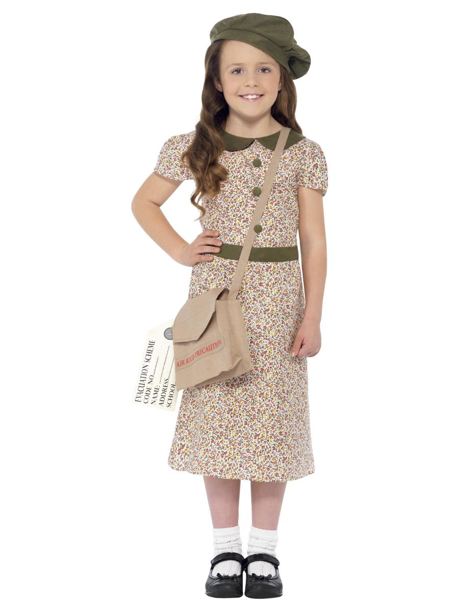 GIRLS/HISTORY/Evacuee Girl Costume, Patterned