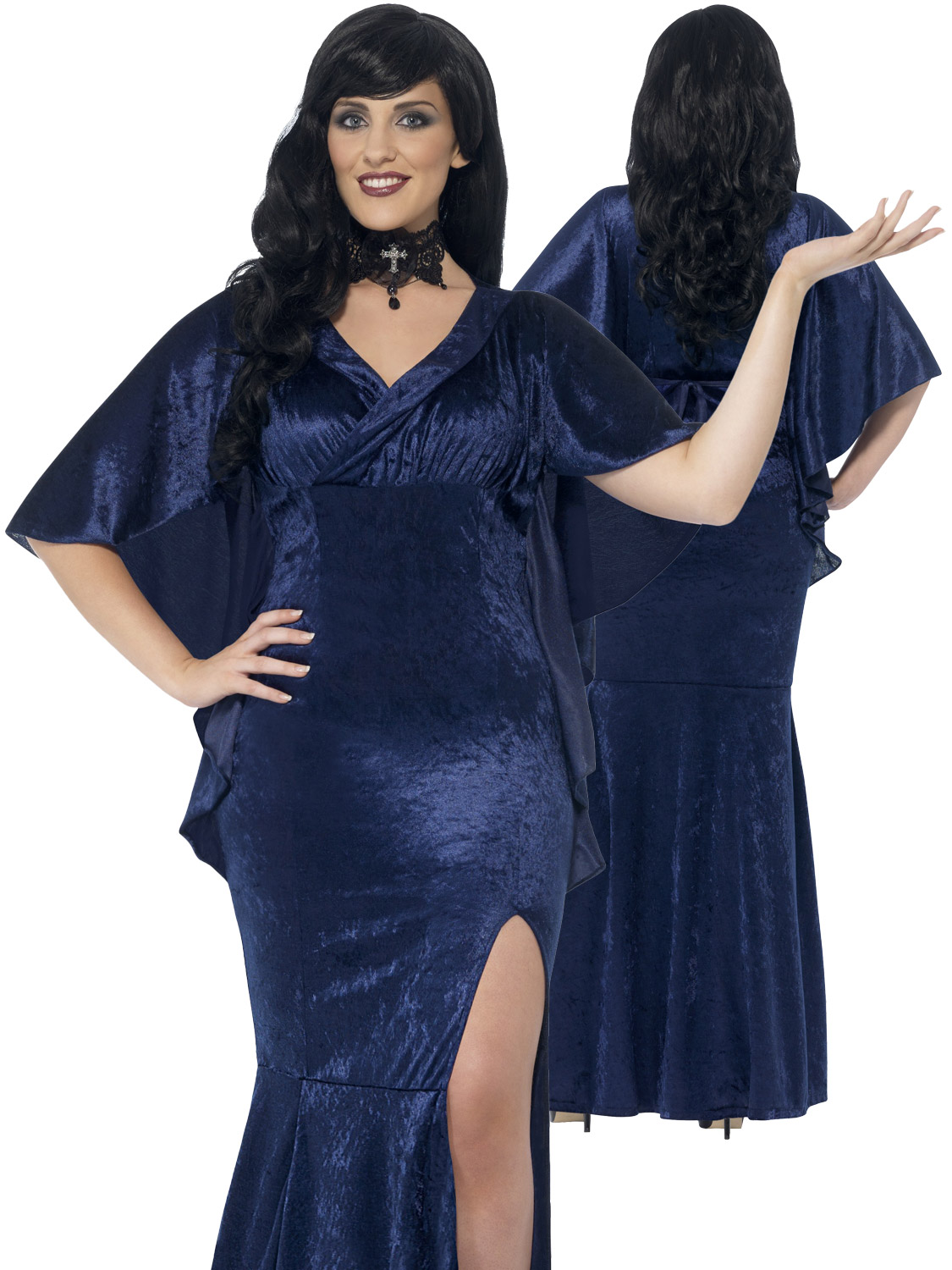 WOMAN/HALLOWEEN/Curves Sorceress Costume, Blue