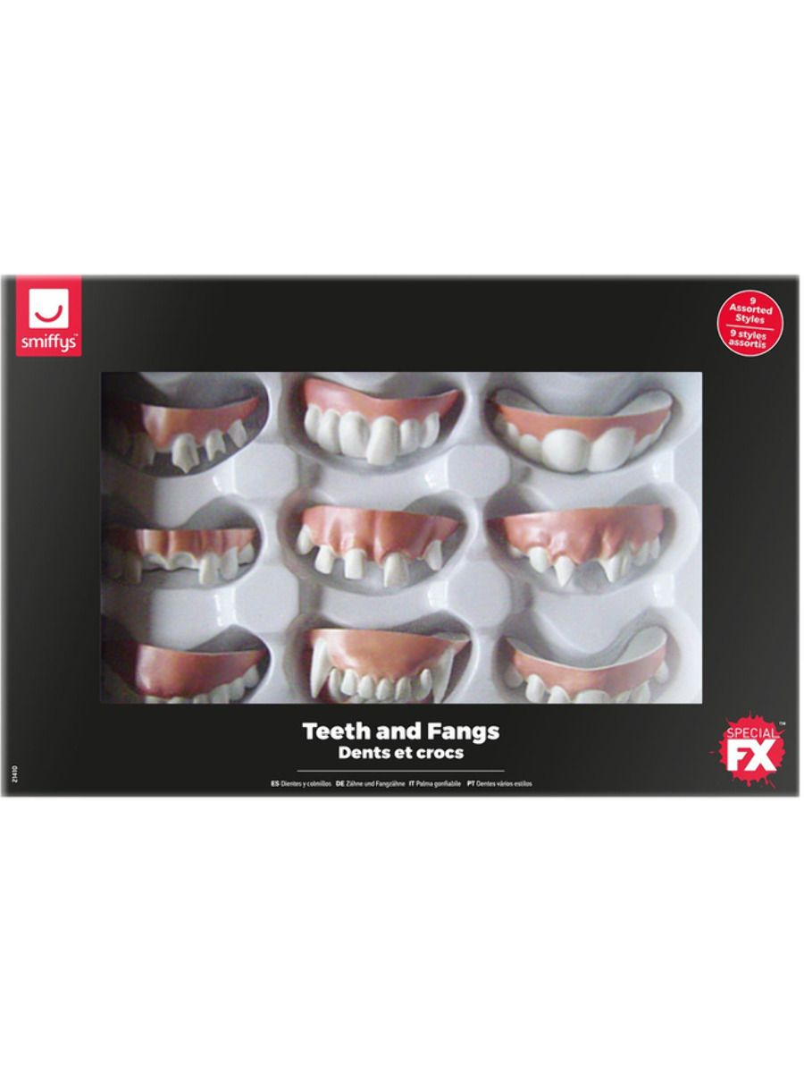 ACCESSORIES/FANGS & TEETH/Smiffys Make-Up FX, Assorted Teeth & Fangs