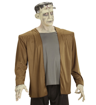 MENS/HALLOWEEN/MONSTER COSTUME (coat with shirt headpiece)