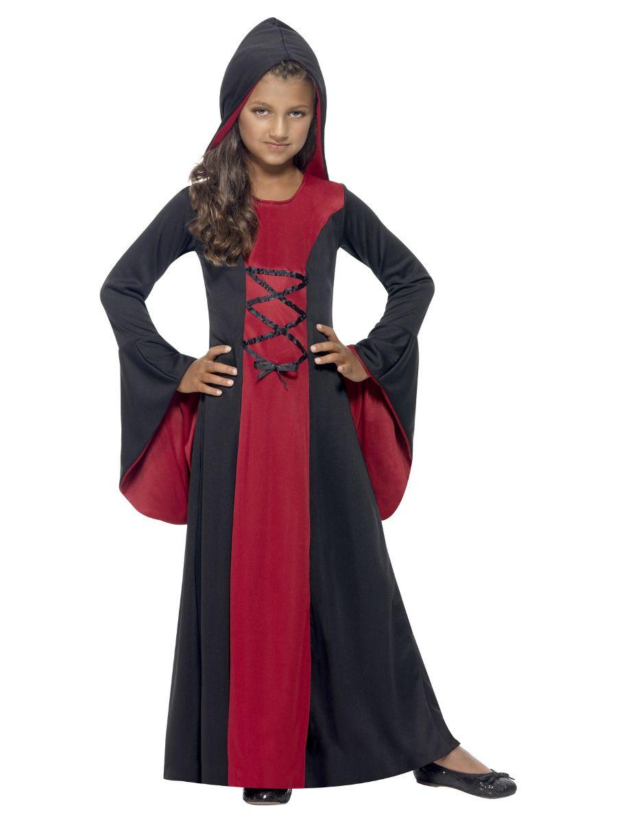 GIRLS/HALLOWEEN/Vamp Costume, Red & Black