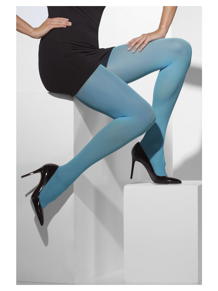 ACCESSORIES/TIGHTS & STOCKINGS/Opaque Tights, Blue