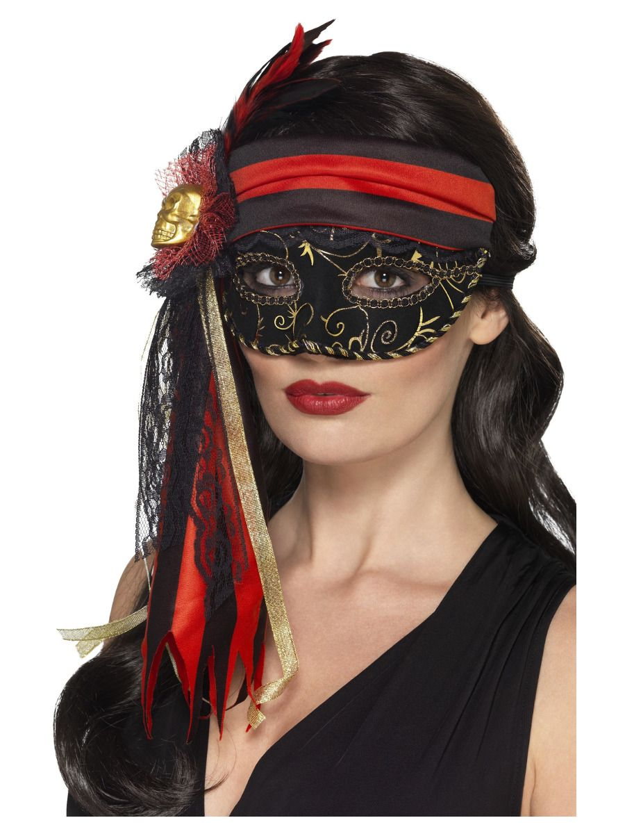 ACCESSORIES/HALLOWEEN/MASQUERADE PIRATE MASK