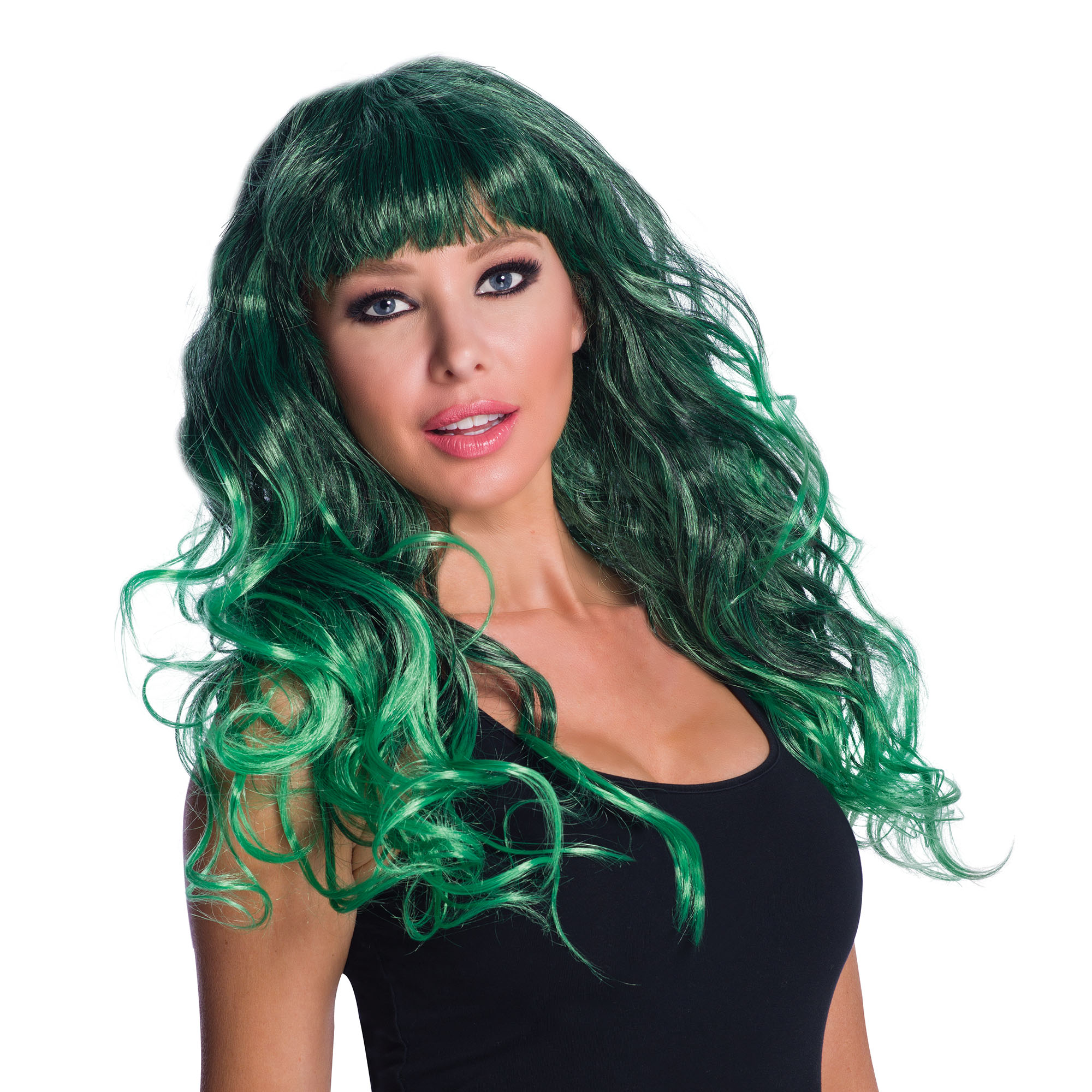 WIG/LONG/Temptress Green/Black Wig