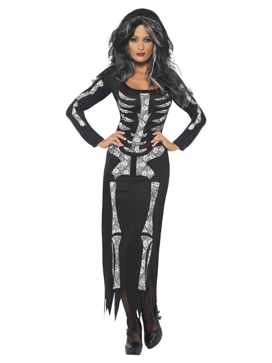 WOMAN/HALLOWEEN/Skeleton Costume, Black
