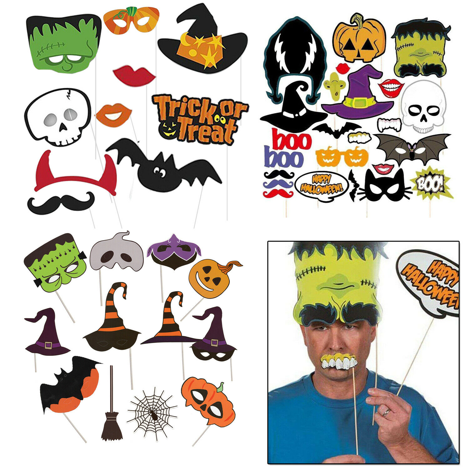 ACCESSORIES/HALLOWEEN/PROPS/10 pcs Party Photo Booth Props Birthday Party Games
