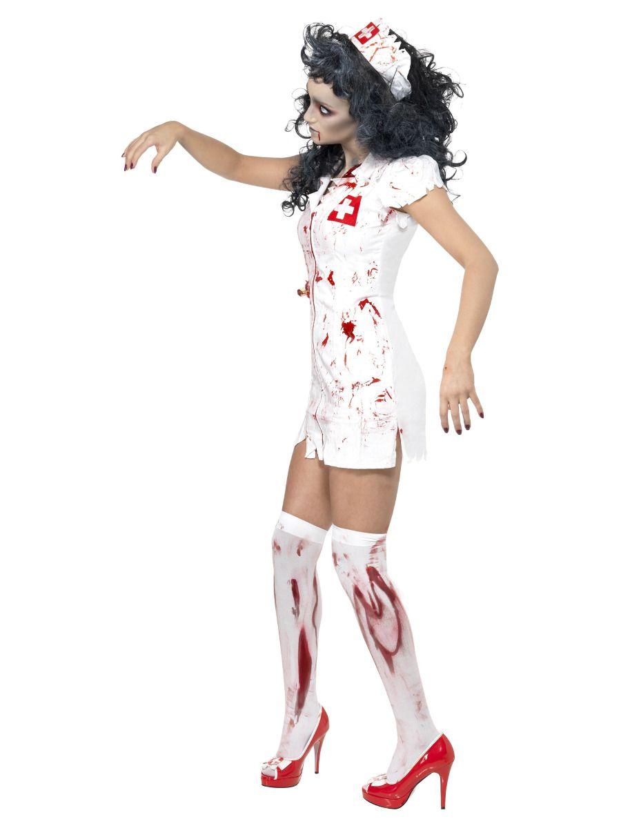 WOMAN/HALLOWEEN/ Zombie Nurse Costume, White