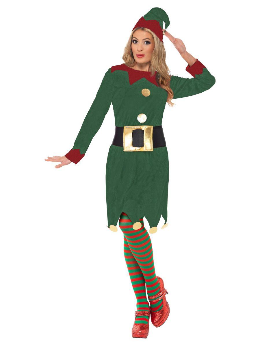 WOMAN/CHRISTMAS/Elf Costume, Green