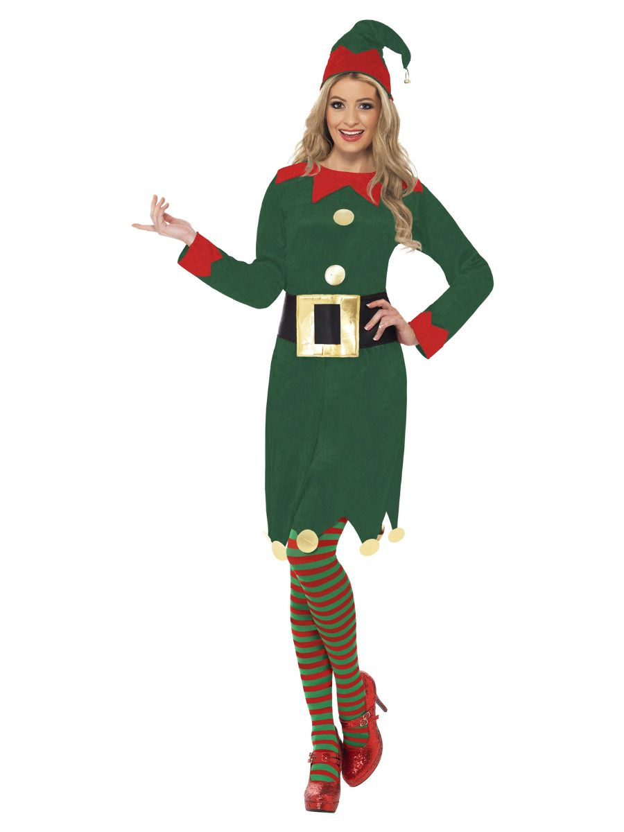 WOMAN/CHRISTMAS/Elf Costume, Green