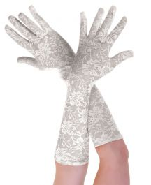 ACCESSORIES/GLOVES&SCARVES/LONG LACE WHITE GLOVES