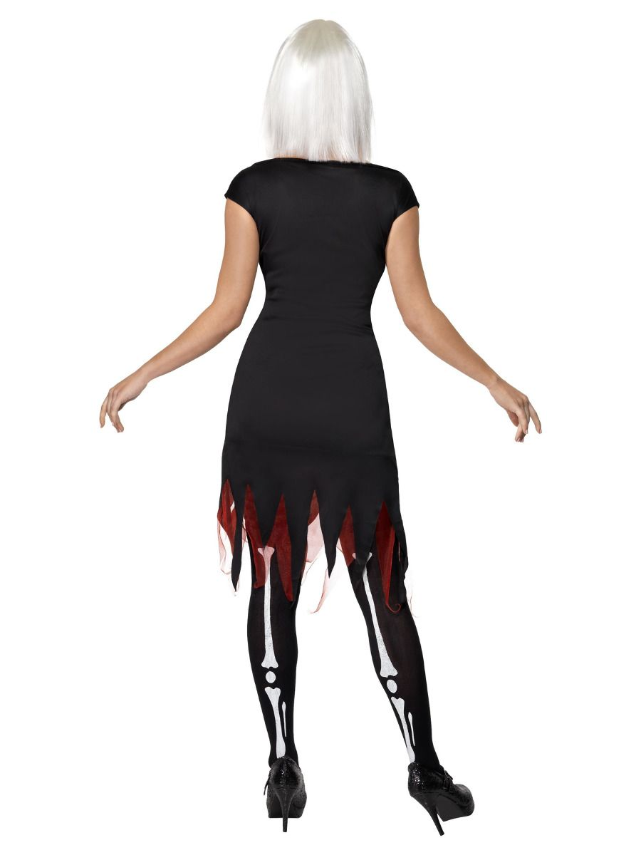 WOMAN/HALLOWEEN/ Bright Bones Glow in the Dark Costume, Black
