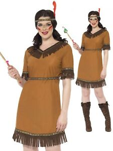 WOMAN/COWBOYS & INDIANS/Native American Inspired Maiden Costume, Brown