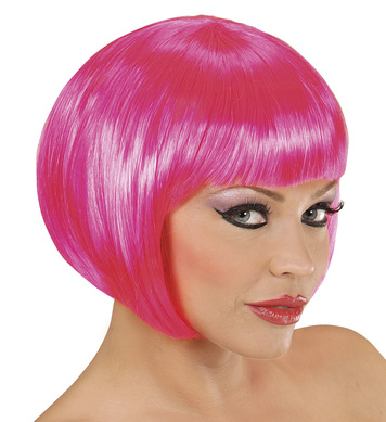 WIG/SHORT/CHANEL WIG - HOT PINK