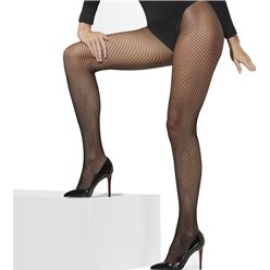 ACCESSORIES/TIGHTS AND STOCKINGS/Black Fishnet Tights - Adult Size XL