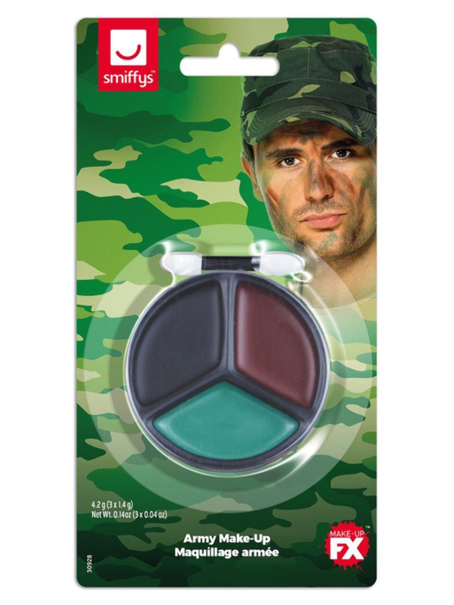 MAKE UP/MAKE-UP KITS/Smiffys Make-Up FX, Army Camouflage Kit, Grease,