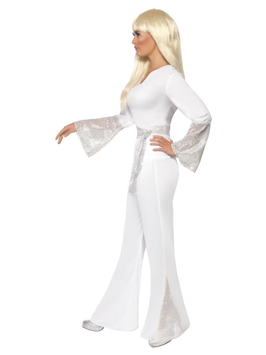 WOMAN/DECADES/1970'S/70s Disco Lady Costume, White