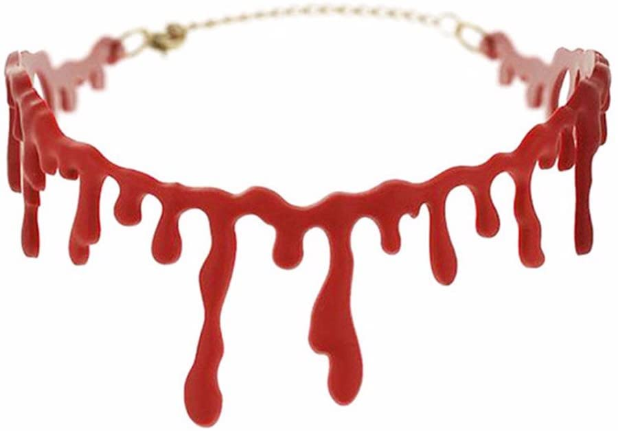 ACCESSORIES/HALLOWEEN/PROPS/ DRIPPING BLOOD CHOKER