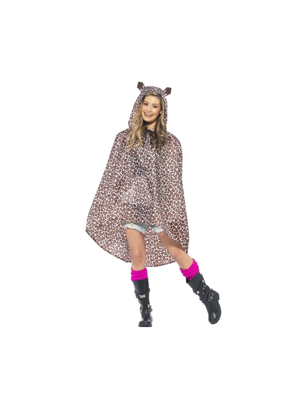 ACCESSORIES/COATS/Leopard Party Poncho, Leopard Print