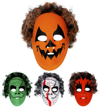 ACCESSORIES/HALLOWEEN/MASKS/ HALLOWEEN MASK WITH HAIR - 4 styles