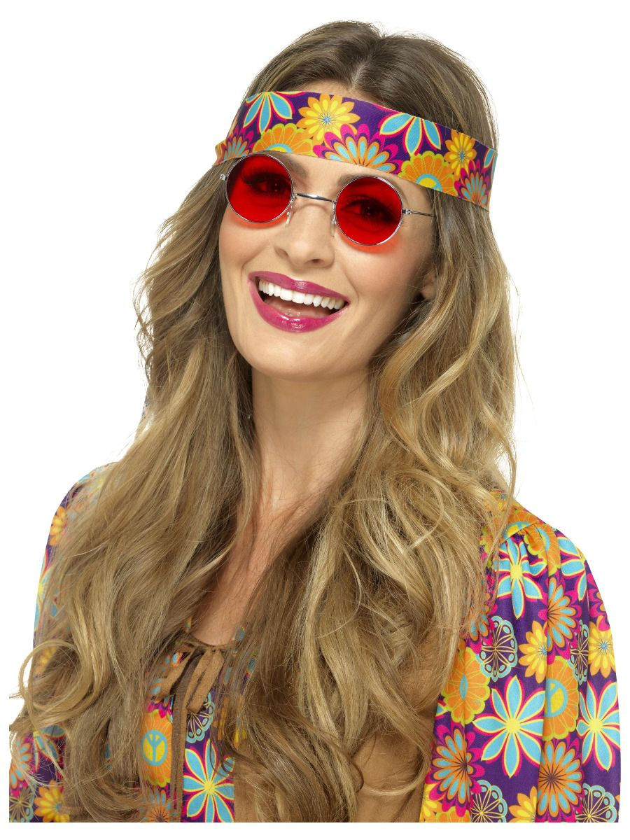 ACCESSORIES/GLASSES/HIPPIE SPECS RED