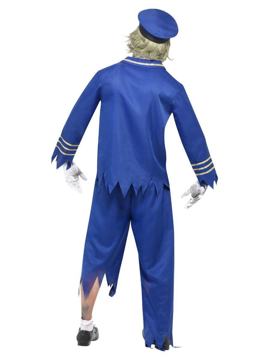 MENS/HALLOWEEN/Zombie Pilot/Captain Costume, Blue