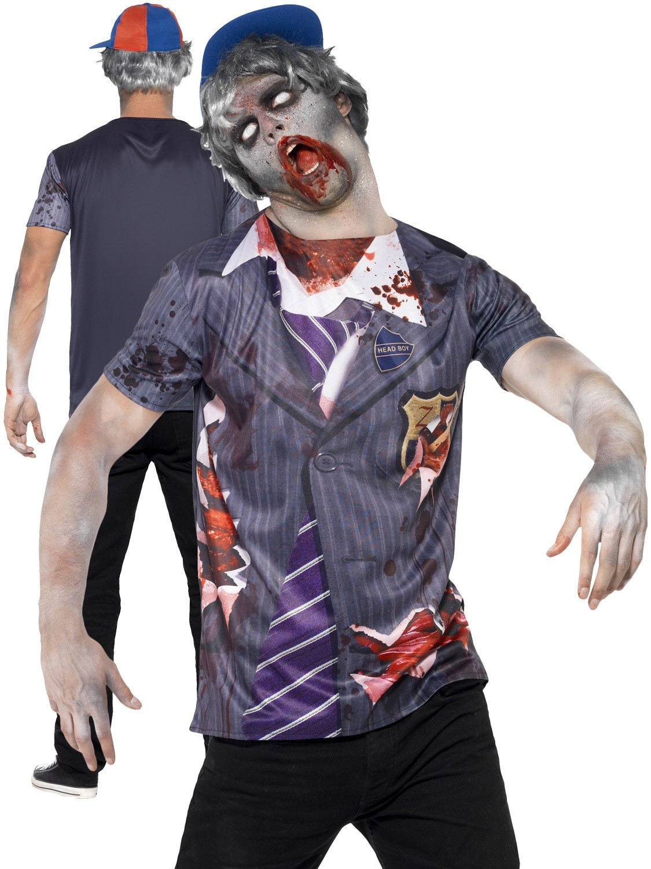 MENS/HALLOWEEN/ Zombie School Boy, Grey