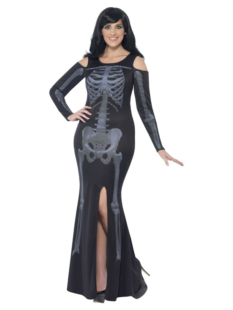 WOMAN/HALLOWEEN/Curves Skeleton Costume, Black