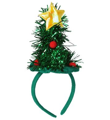 ACCESSORIES/CHRISTMAS/CHRISTMAS TREE MINI  HAT - TINSEL