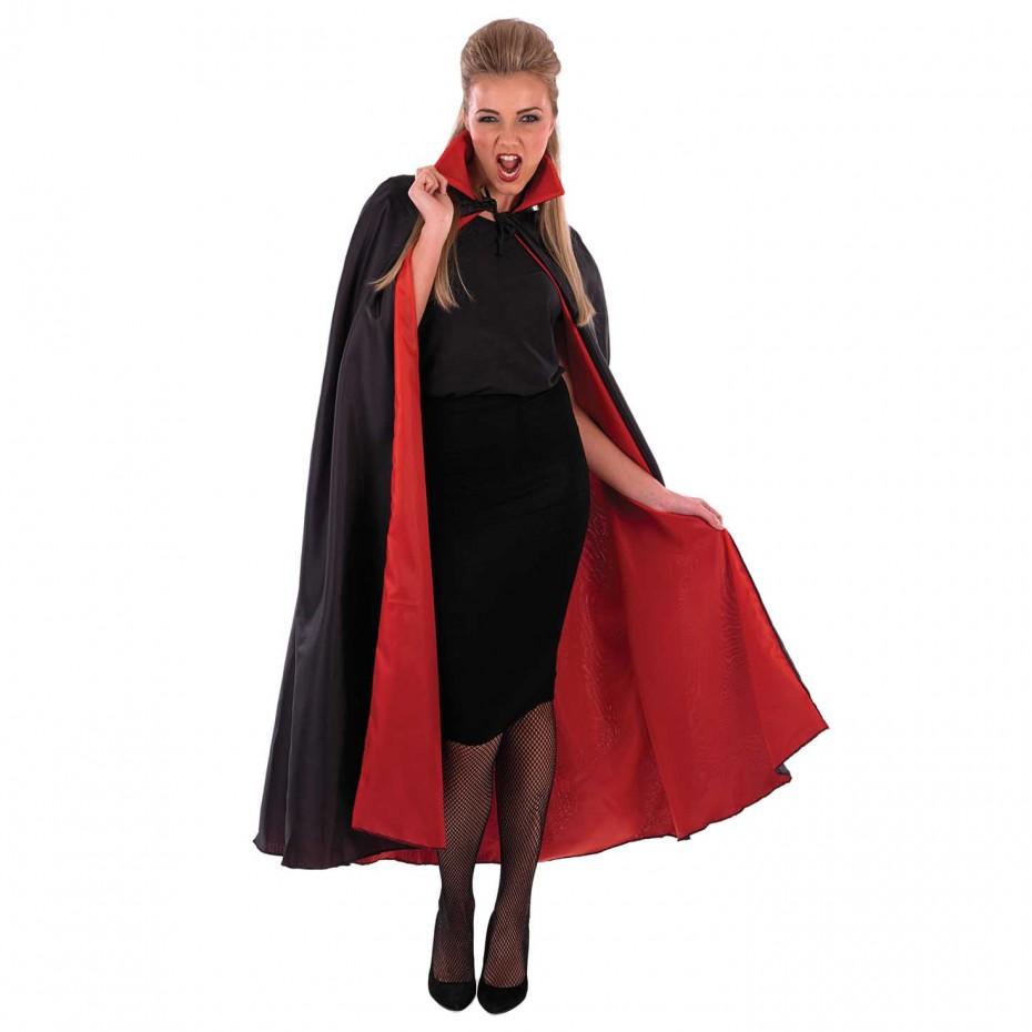 MENS/HALLOWEEN/LONG BLACK VAMPIRE CAPE COSTUME
