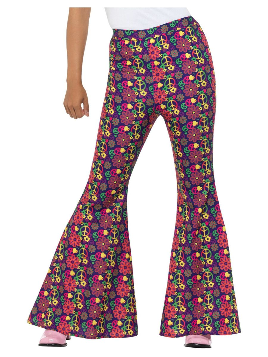 WOMAN/DECADES/1960'S/60s Psychedelic CND Flared Trousers, Ladies
