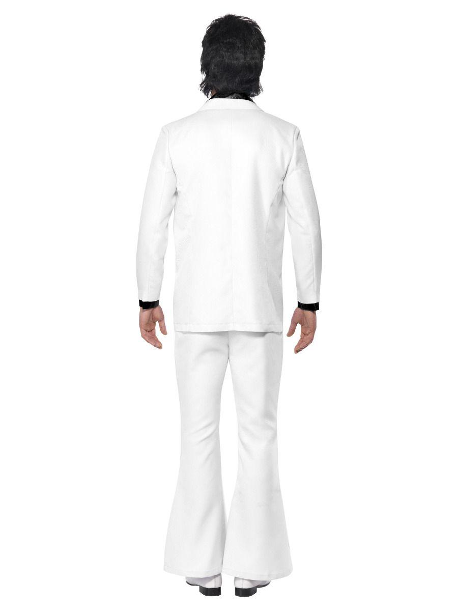 MENS/DECADES/1970'S/1970s Suit Costume, White