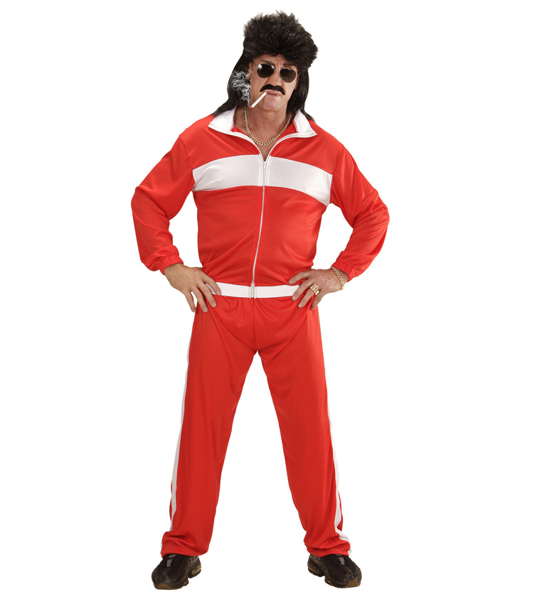 MENS/DECADES/1980'S/RED TRACKSUIT