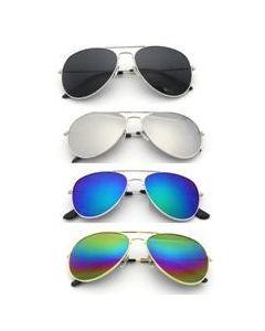 ACCESSORIES/GLASSES/ Gold Top Gun Style Sunglasses