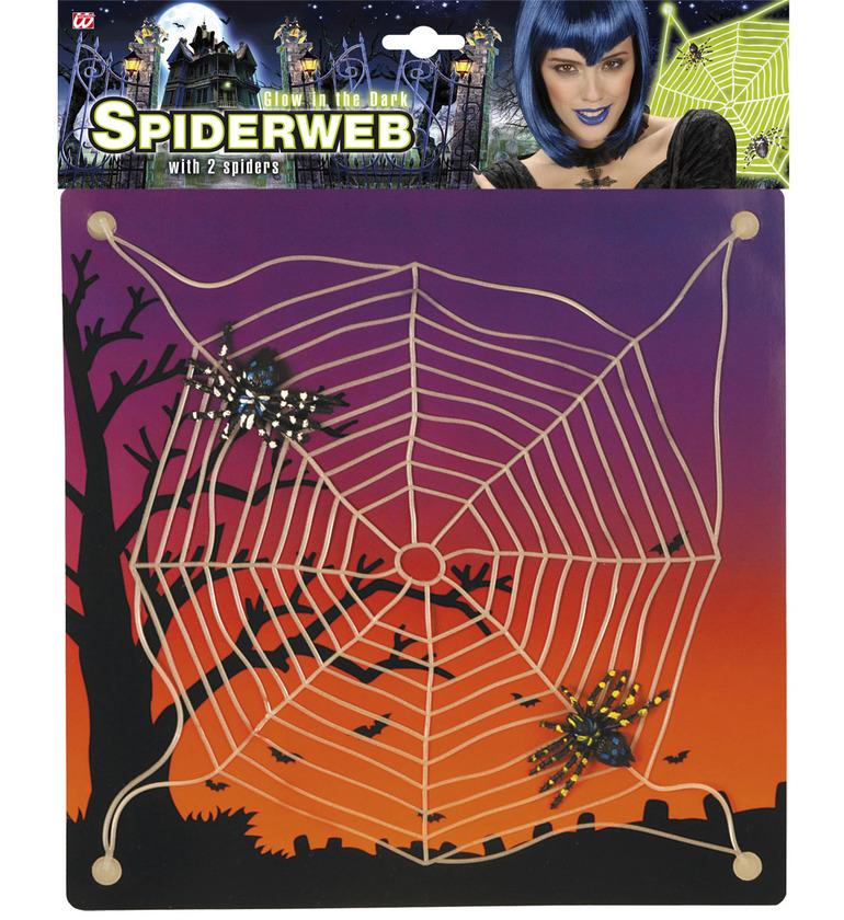 ACCESSORIES/HALLOWEEN/PROPS/ SPIDERWEB GID w/SUCTION CAPS 30x30cm