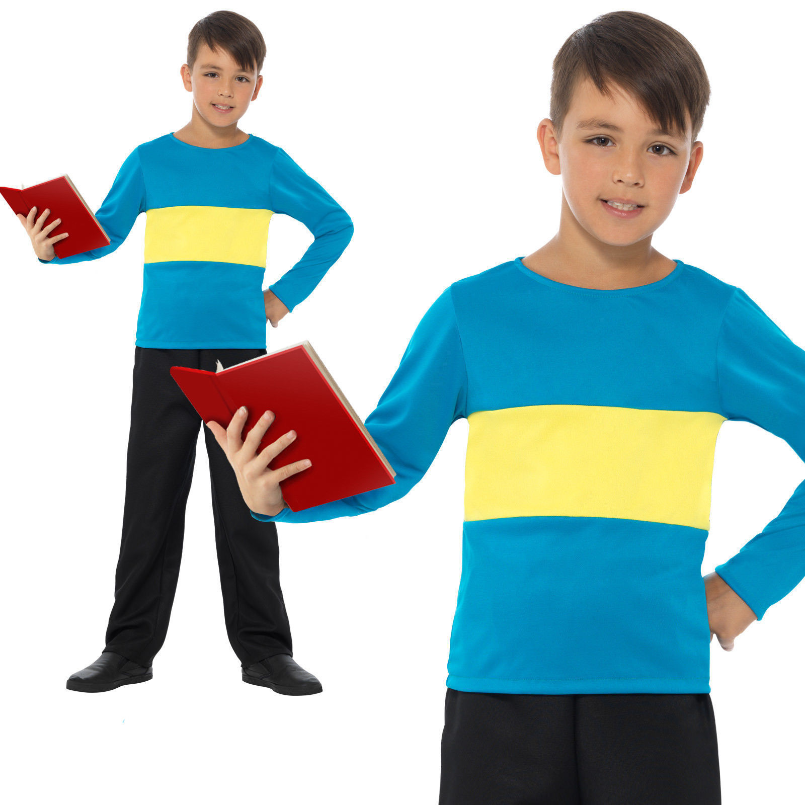 BOYS/TV & FILM/Jumper, Blue with Yellow Stripe, Blue & Yellow