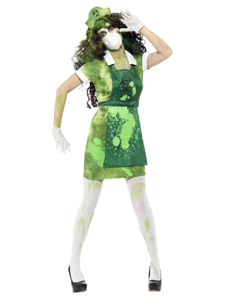 WOMAN/HALLOWEEN/Biohazard Female Costume, Green