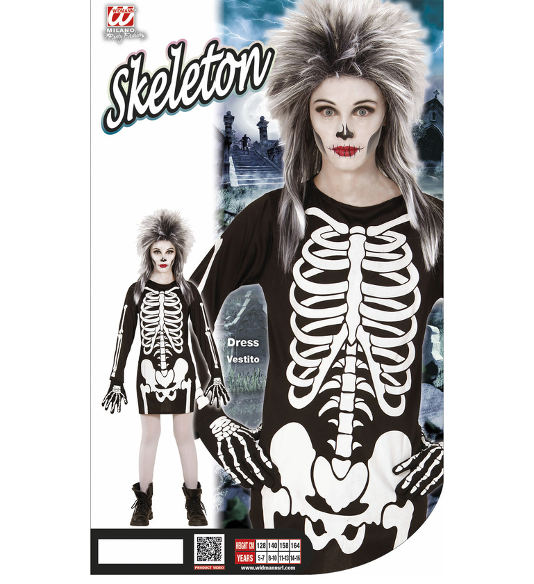 GIRLS/HALLOWEEN/SKELETON GAL (dress) Childrens