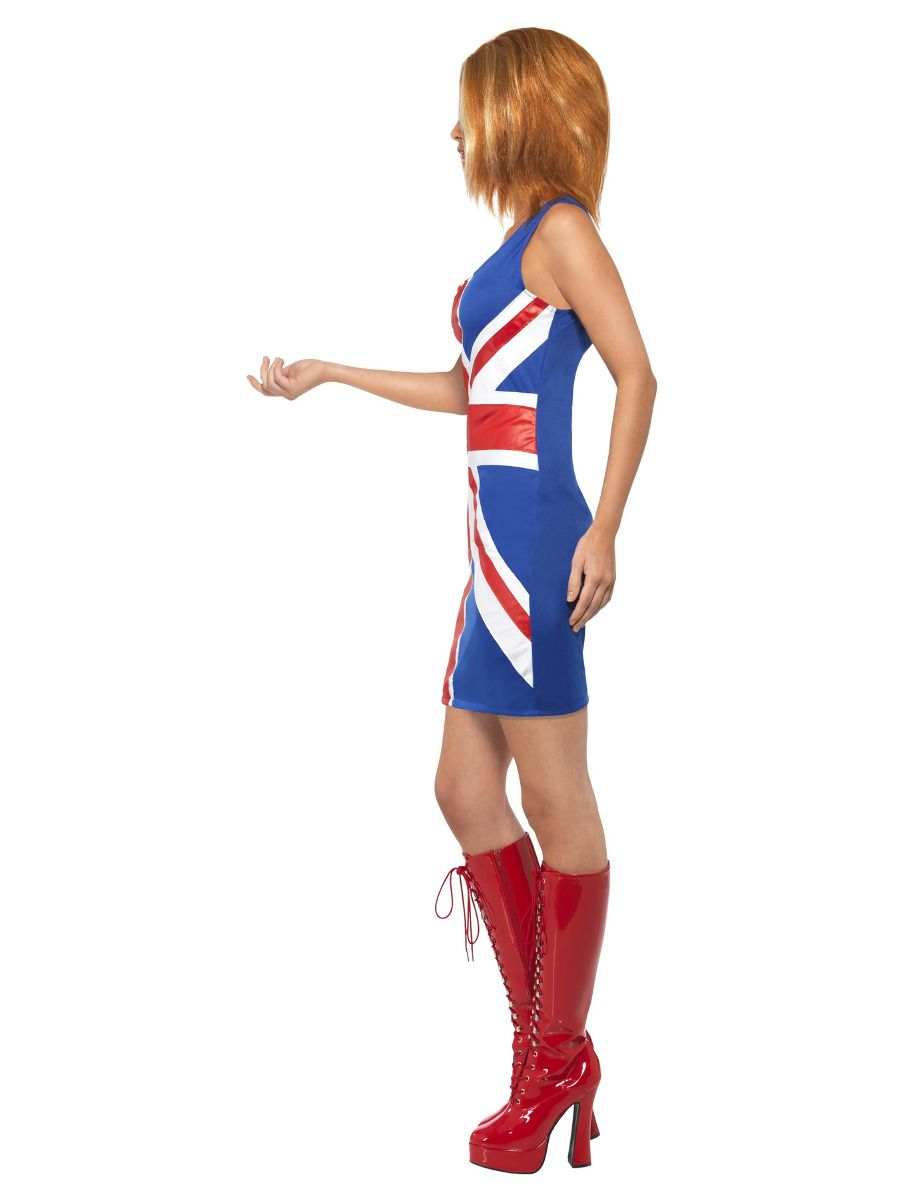 WOMAN/DECADES/1990'S/Ginger Power, 1990s Icon Costume, Union Jack